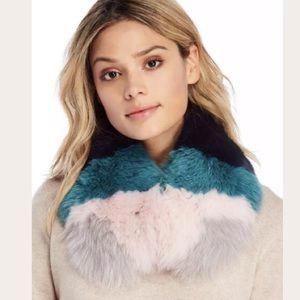 New Intuition Paris fox fur seraphine collar NWT